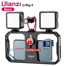 Ulanzi u-rig ii metal smartphone equipamento de vídeo 3 montagens sapato filmmaking caso handheld telefone vídeo estabilizador para iphone 12 pro