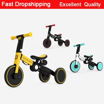 Children Bicycle Tricycle Child Bike Foldable Baby Balance Bicycle 5-in-1 Children's Scooter Kids Walker for 1-5Years Old bicycle happy baby 50008 bike children bicycle balance bike for boys and girls for children grey dark gray kids bike running b