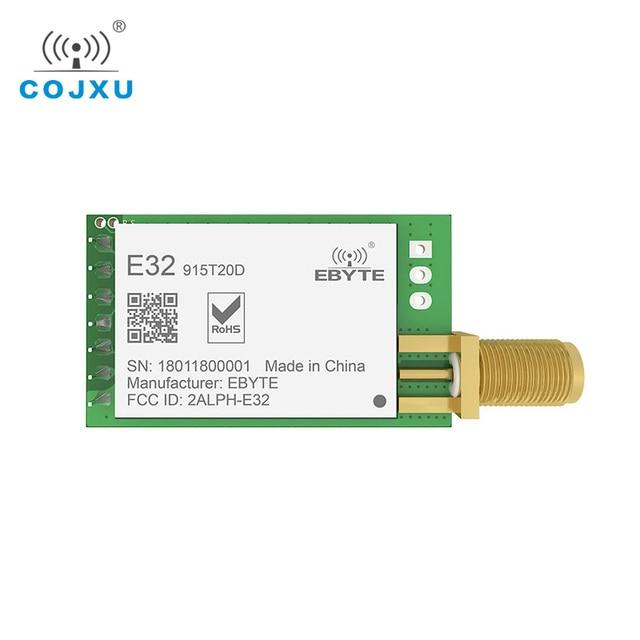 لورا 915MHz SX1276 rf TCXO E32 915T20D وحدة الإرسال والاستقبال اللاسلكية ebyte طويلة المدى iot UART 915 Mhz rf جهاز ريسيفر استقبال وإرسال