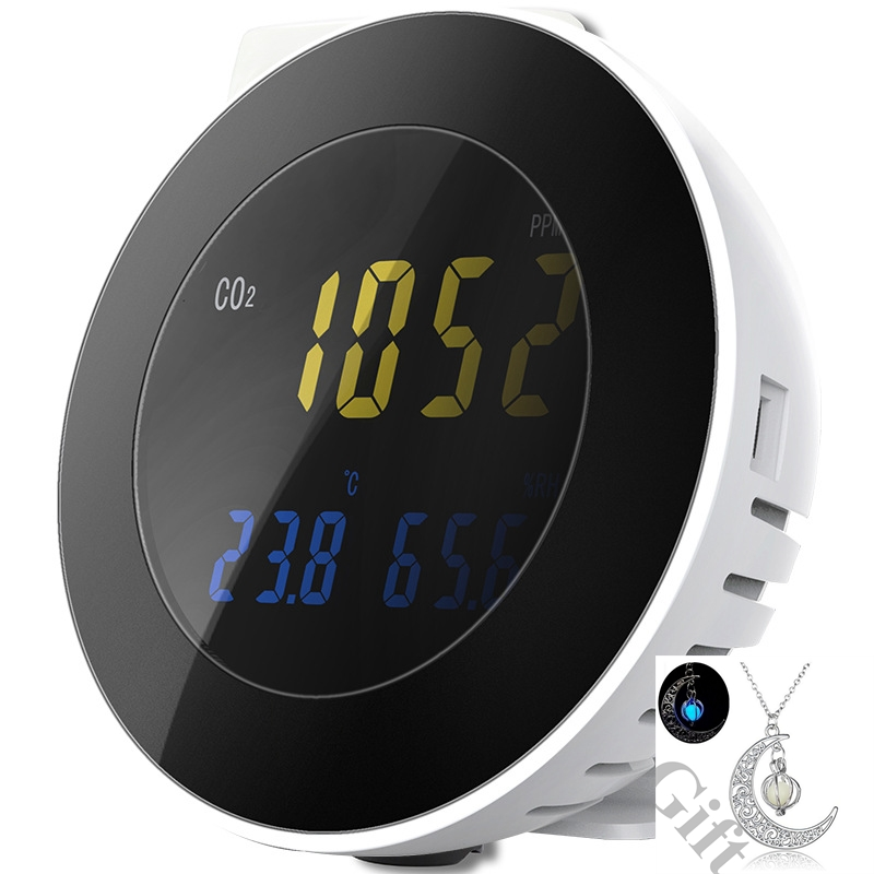 HT-501 3 In 1 CO2 Meter Temperature Hygrometer Digital Portable Gas Leak Detector Analyzer Monitor Tester Alarm System Sense