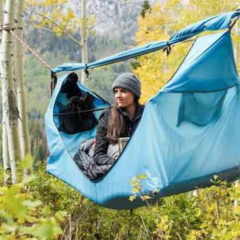 Refugio de camping al aire libre, tienda de árbol, mosquitera hamaca dosel tienda de campaña set pérgola al aire libre anti-mosquito tienda en suspensión a prueba de lluvia