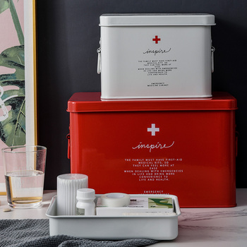 Large Medicine Box Portable Household First Aid Box Multi-function Outpatient Storage Multi-layer First Aid Medical Box Storage household aluminum medicine box medicine storage box portable first aid box aluminum storage box