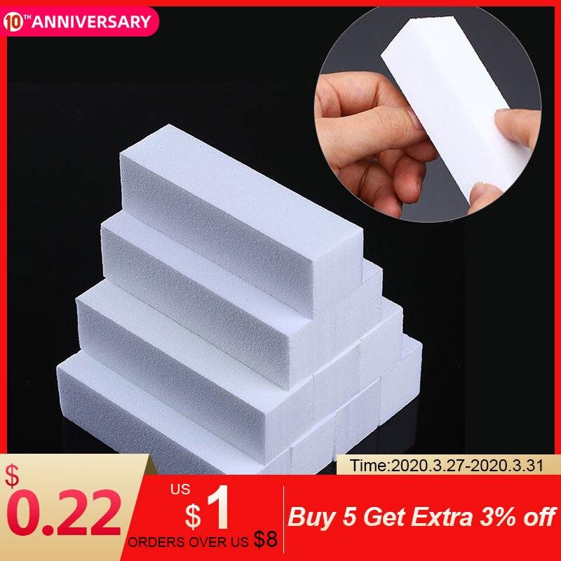 tampons-d'art-d'ongle-blanc-poncage-meulage-bloc-de-polissage-fichier-outil-d'art-d'ongle