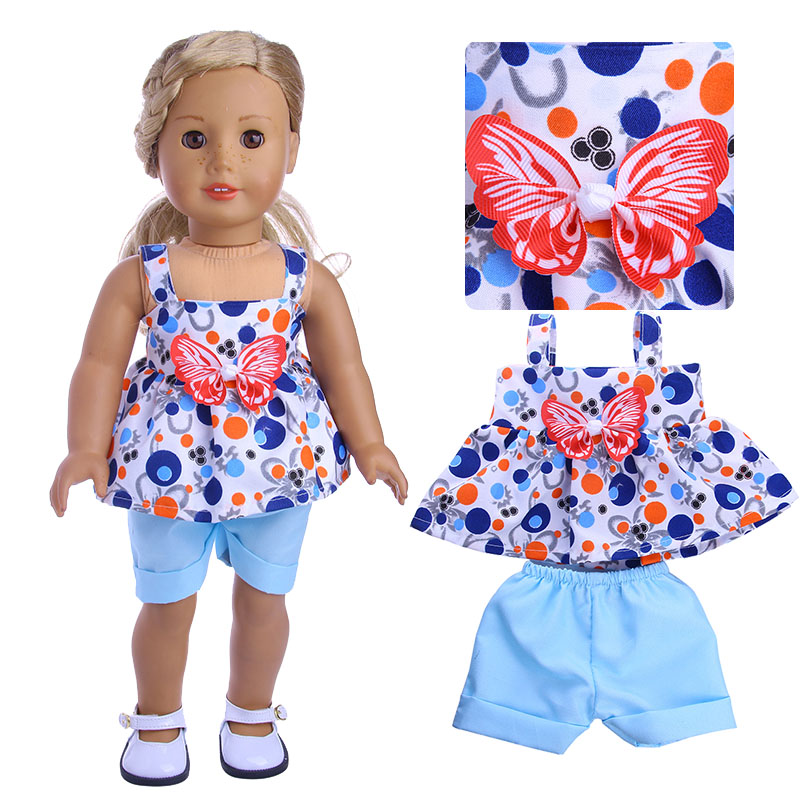 3pcs Clothes Doll/'s Dress Hat Shawl Set for 18 Inch Doll Toy Gift Tool