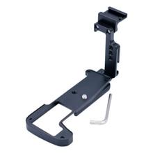 Câmera de liberação rápida l suporte da placa aperto de mão com sapato quente para olympus OM D em1ii E M1II câmera