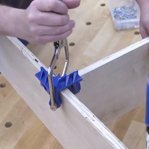 Image 5 - ไม้ quick คีม clamp มุมขวาคลิป splint 90 องศา T clamp เสริม fixture คลิปงานไม้ DIY เครื่องมือ