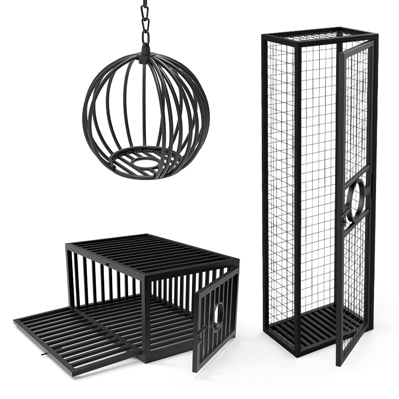 BDSM Sex Game Cage Super Large Adult Cage Bondage Femdom Slave Cosplay Cage Classroom Large Punishment Torture Tool