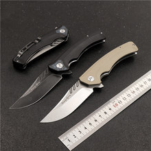 Новый складной нож для кемпинга на природе D2 лезвие острый высокопрочный Карманный охотничий нож Тактический самооборонный инструмент для...