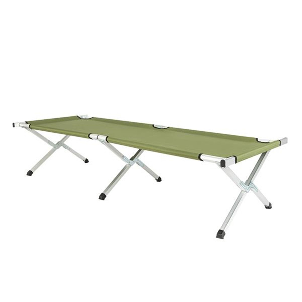 RHB-03A Portable Folding Camping Cot With Carrying Bag Army Green Folded Bed For Outdoor