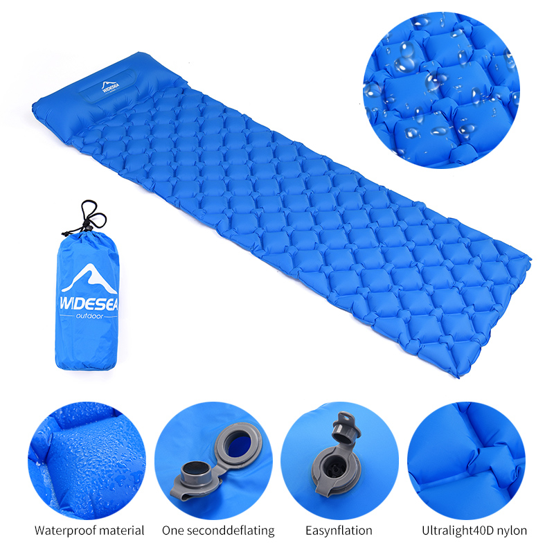 Large coussin de couchage gonflable, matelas à air pneumatique, couchette d'extérieur, mobilier ultraléger de randonnée
