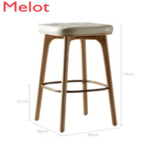 Nordic Bar Counter Chair  Simplicity Modern High Footstool Gold Metal Chair Household Bar Chair Stool Commercial Furniture Cheap