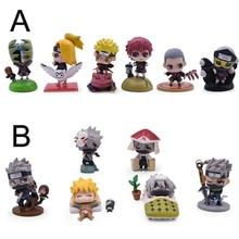 цена на 4-5CM 6Pcs/Set Anime Naruto Figure Toys Naruto PVC Action Figure Cute Haku Kakashi Sasuke Mini Figure Model Dolls Collection Kid