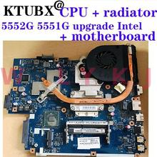 For Acer aspire 5551 5551G 5552 5552G Laptop Motherboard LA-5911P Upgrade Intel HM55 motherboard + CPU + heatsink with GPU