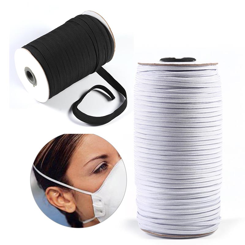 10m/lot Mouth Mask Elastic Band Mask Rope Elastic Cord Rubber Band String Mask Ear Cord For Mask Making DIY Mask Accessories