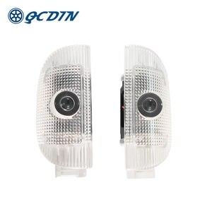 QCDIN for W220 R230 LED Car Welcome Light Door Logo Light Projector Light for S-Class W220 SL-Class R230