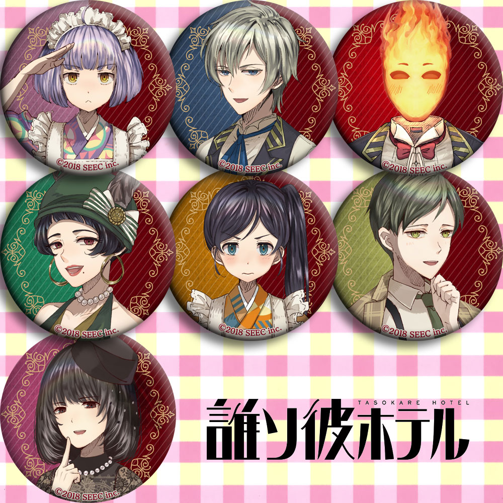 Japan Anime Hotel Dusk Cosplay Badge Cartoon Brooch Pins Collection Bags Badges For Backpacks Button Gifts