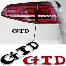 Tronco do carro fender gtd logotipo adesivo 3d para volkswagen vw golf vento cc r32 phaeton arteon eos scirocco variante diesel emblema decalques