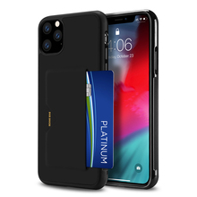 For iPhone 11 Pro Max Case Hybrid PC+TPU Soft Anti-Slip PU Leather Card Holder Cover Shockproof