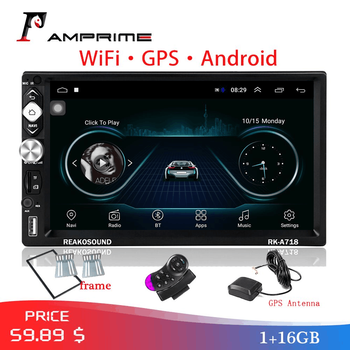 AMPrime 7 Car Multimedia Player Andriod 2Din Car Radio GPS Navigation Wifi Autoradio USB FM Audio Radio Stereo Backup Monitor image