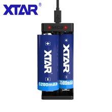 XTAR MC2 شاحن محمول 5 فولت مايكرو USB بالطاقة 3.6 فولت/3/7 فولت IMR INR بطاريات ليثيوم أيون 10440 26650 21700 21700 18650 شاحن بطارية