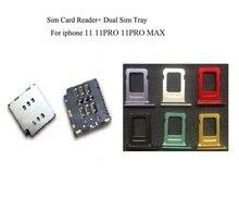 10 set/partij Nieuwe Dual Sim Kaartlezer + Dual Sim Lade Voor iPhone 11 11pro max kleuren