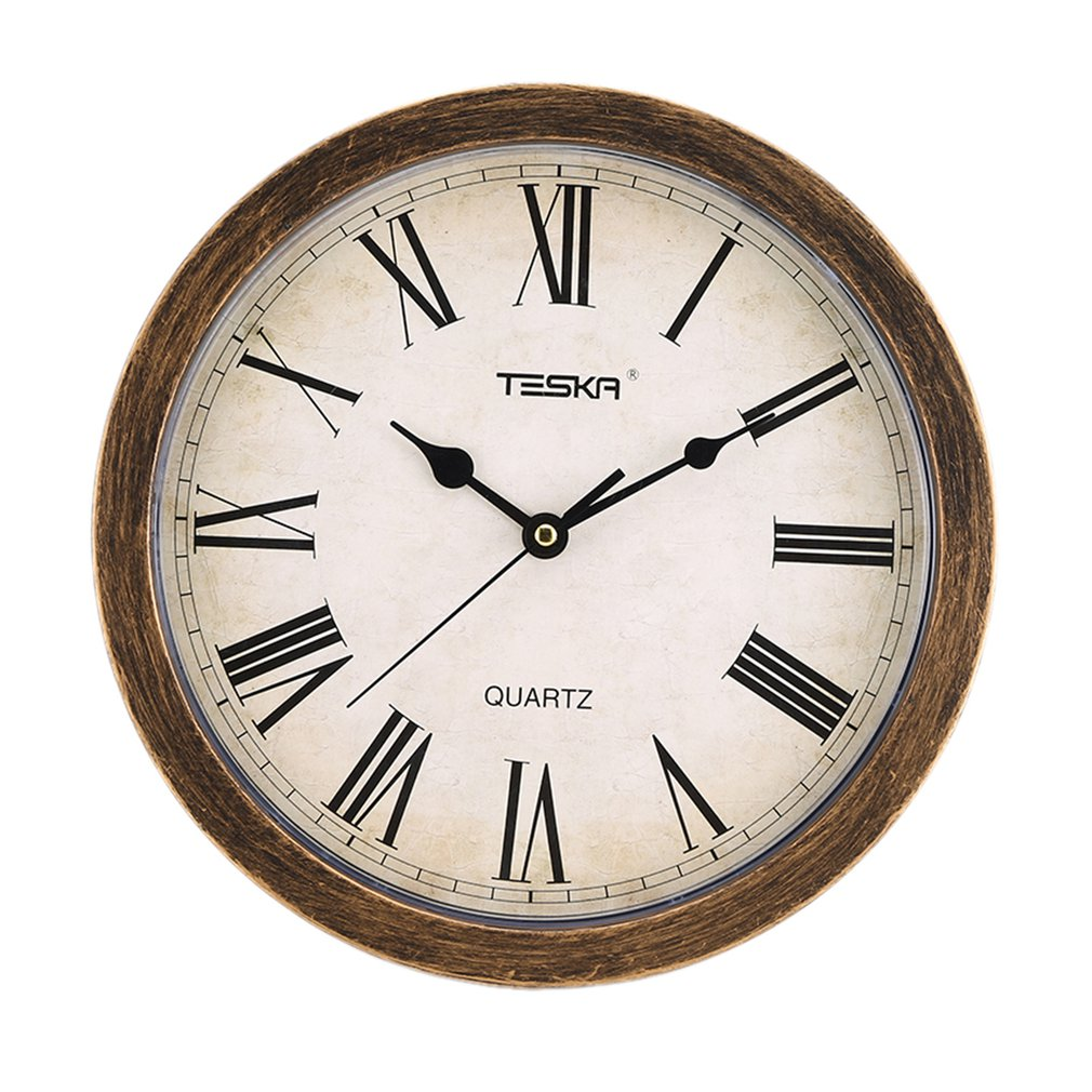 Nordic Style Vintage Round Shape Unique European Mute Wall Clock Storage Box For Home Living Room Decoration