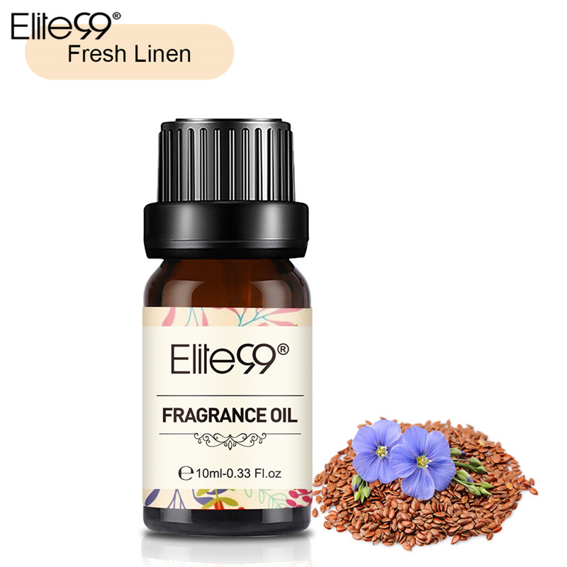 Elite99 Fresh Linen Fragrance Oil 10ML Flower Fruit Pure Essential Oil Relax Diffuser Lamp Air Fresh Massage100% Natural Oil