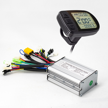 36v 48 250w 350w 500w 750w 1000w 1500w electric bike conversion kit controller with lcd5 lcd3 and color display lcd8s Ebike Controller 24V 36V 250W 350W Brushless 6 Mosfet Square Wave Controller with KT LCD4 LCD5 Display Electric Bike Controller
