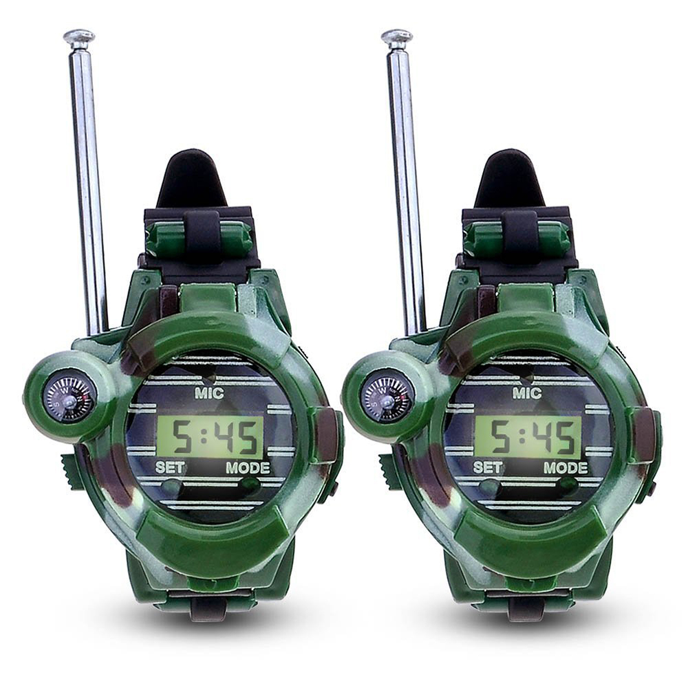 <font><b>Children's</b></font> Toys Military Watch Walkie-talkie Seven-in-one Mini Plastic Puzzle Parent-child Interactive Communication Toy 12287 image