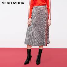 Vero Moda frauen Vintage Kontras Plaid Gefaltete Rock | 319116508(China)
