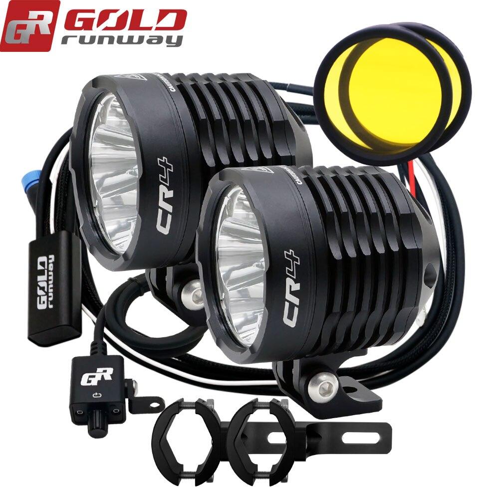 OLDRUNWAY CR4 Motorcycle Auxiliary Fog Light bicycle Headlight fog lights lamp Motorbike High Brightness 35W 6000k