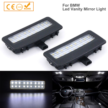 2X LED Vanity Mirror Light For BMW F10 F11 F07 F01 reading lights Car Accessories styling auto led interior light