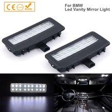 2 led vanity para espelho de luz, para bmw f10 f11 f07 f01 luzes de leitura, acessórios do carro, estilização, luz interior automotivo