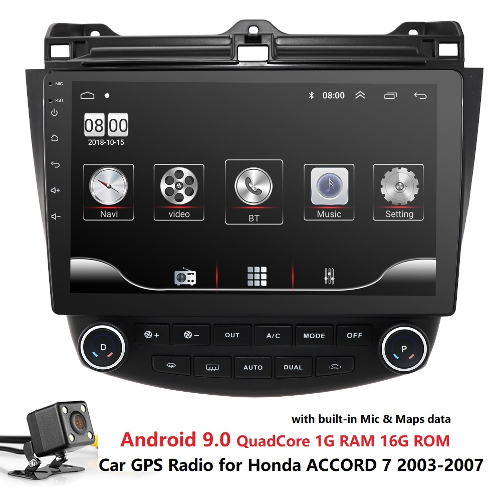 Auto Multimedia-Player Radio GPS Für <font><b>Honda</b></font> <font><b>ACCORD</b></font> 7 <font><b>2003</b></font> 2004 2005 2006 <font><b>2007</b></font> Quad Core 1024*600 Steuergerät mirrorLink CAM <font><b>USB</b></font> BT PC image