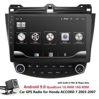 Car Multimedia Player Radio GPS For Honda ACCORD 7 2003 2004 2005 2006 2007 Quad Core 1024*600 HeadUnit MirrorLink CAM USB BT PC