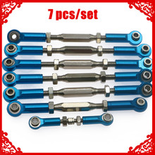 Alloy+steel full set of tie rods turnbuckles for rc hobby model car 1/10 Traxxas Slash 2WD short course upgrade parts