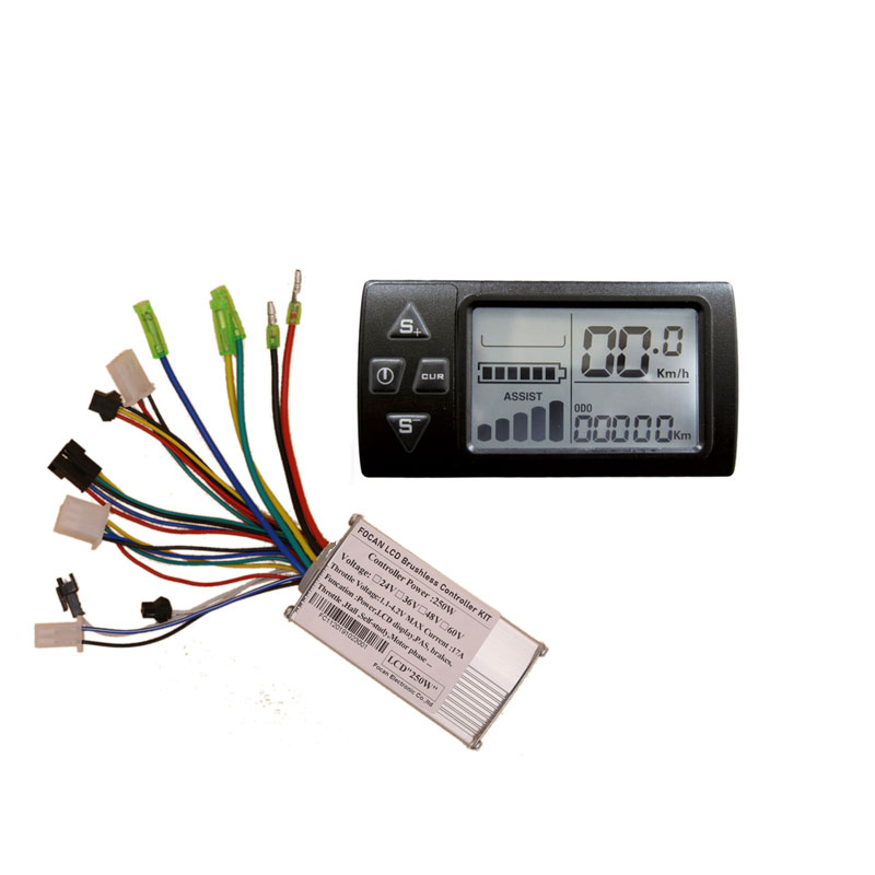 Electric Bicycle LCD display meter with brushless BLDC motor controller 250W/350W 13A
