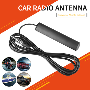 3/5m Universal Car Radio FM Antenna Signal Amp Amplifier Hidden Antenna Stealth FM AM For Vehicle Truck Motorcycle Boat