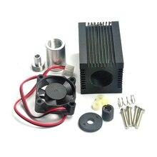 Алюминий регулируемый 405 нм 450 нм 5,6 мм лазер диод LD корпус радиатор линза вентилятор