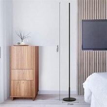 Nordic Minimalist LED Floor Lamp Free Standing Lamps for Living Room Bedroom Office Wooden Floor Light Indoor Lighting Luminaria