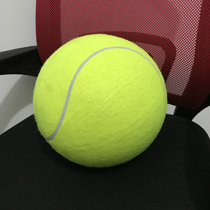 Big Tennis Balls Signature 24cm Inflatable Holiday Event Gift Pet Tennis 9.5 Inch Pet Bite Toy Souvenir