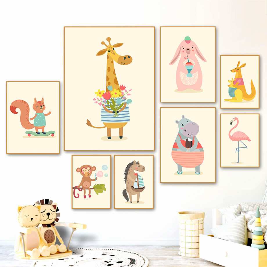 Wall Art Large Animal Flamingo Silhouette Canvas Pictures