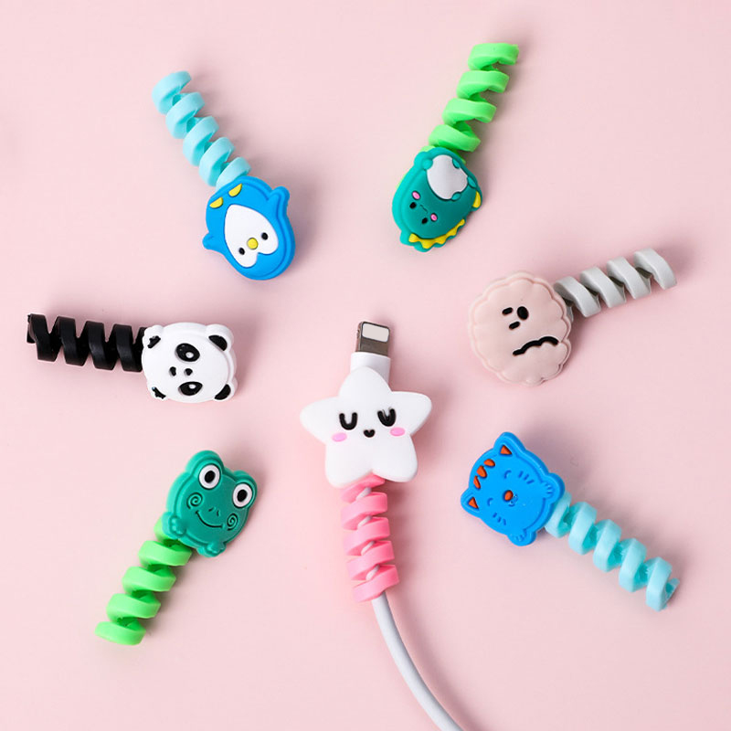 Cartoon Cable Protector Data Line Cord Protective Case Cable Winder Cover For Mobile Phone USB Charging Cable Winder Organizer