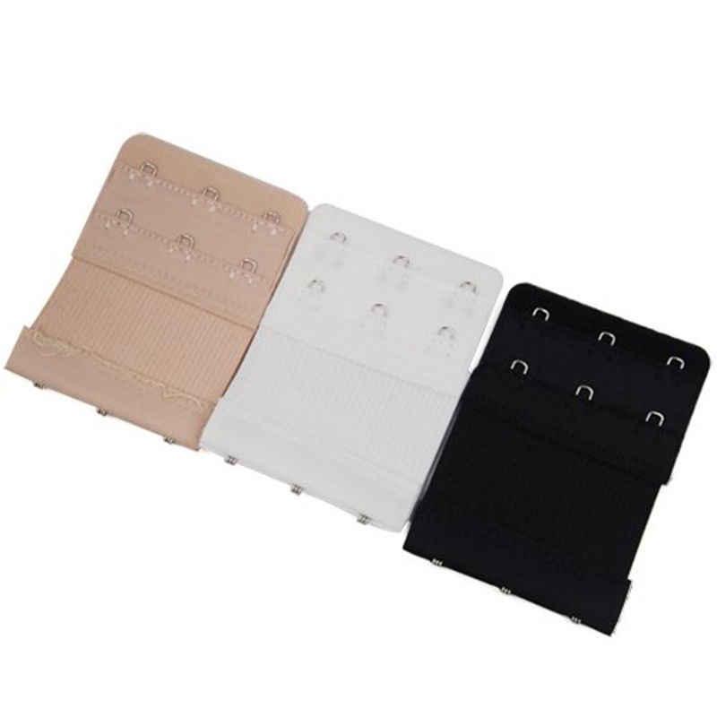 Utile Bra nero bianco Extender Strap Extension 3 Ganci 3 Righe Delle Signore della donna Cintura Regolabile Fibbia accessori pulsante