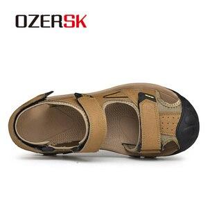 Image 3 - OZERSK, novedad de verano, sandalias para hombre, zapatos de verano a la moda, sandalias casuales transpirables impermeables, zapatos para caminar en la playa, talla 38 ~ 46