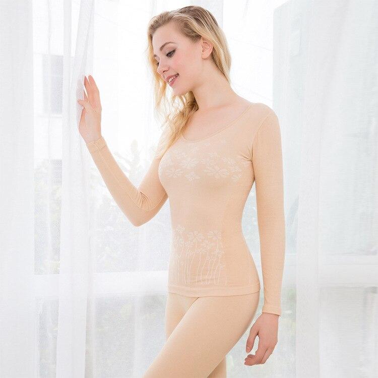 Thermal Underwear Women Slimming Shaping Long Johns Autumn Winter Thermal Set Warm Cotton Seamless Underwear For Women Pyjamas