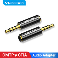 Vention OMTP CTIA słuchawki Audio Adapter Jack 3.5mm męski na Jack męski kabel Aux do telefonu MacBook Pro Samsung zestaw słuchawkowy kabel Aux