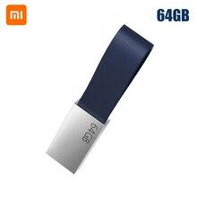 Xiaomi disco U Original de 64GB, dispositivo de transmisión USB 3,0 de alta velocidad, tamaño compacto, cordón de diseño fácil de llevar, cuerpo de Metal, 64GB