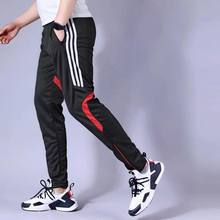 Мужские футбольные штаны 20, штаны для бега, Мужские штаны для бега, спортивные фитнес-трико на молнии, спортивные тренировочные штаны для фу...