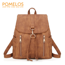 POMELOS Bag Backpack Women 2019 Fashion For Girls PU Leather Material School Teenage Womens Backpacks